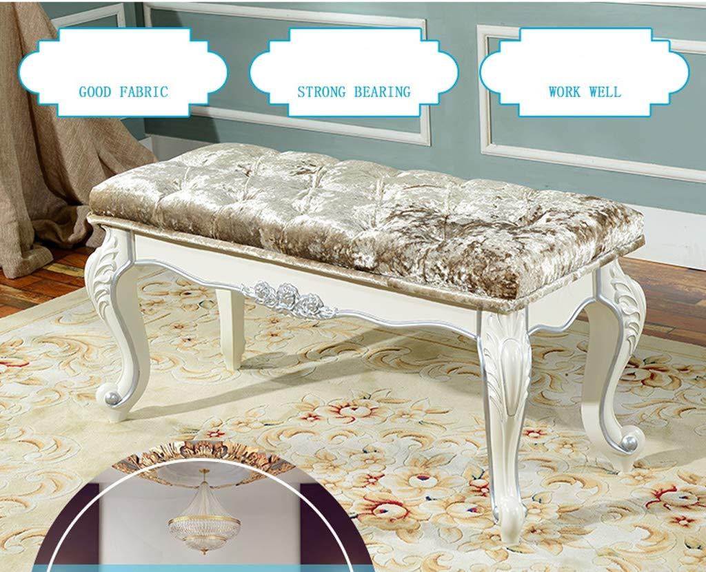 THBEIBEI Schuhbank Flur Aufbewahrungsbank Holzschuhe Kabinett Sitz und Lagerung Hocker Hocker Bank Bed Ende Hocker Aufbewahrungsbox for Wohnzimmer Schlafzimmer (Color : Silver, Size : 100cm)