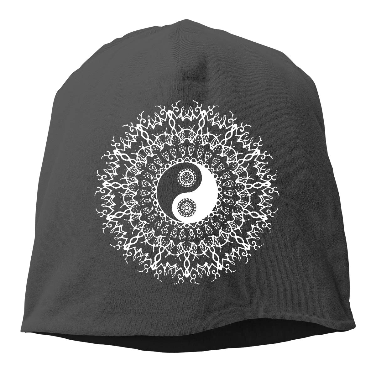 Yin and Yang in Mandala Unisex Knitted Hat Beanie Hat Warm Hats Skull Cap