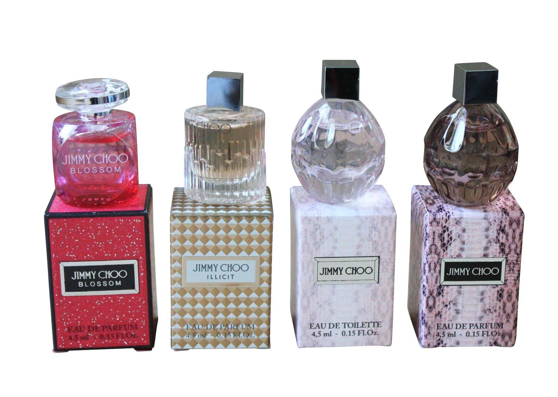 Jimmy Choo Miniature Fragrances Bundle for Women – 4 x 4.5ml – Eau de Toilette and Eau de Parfum