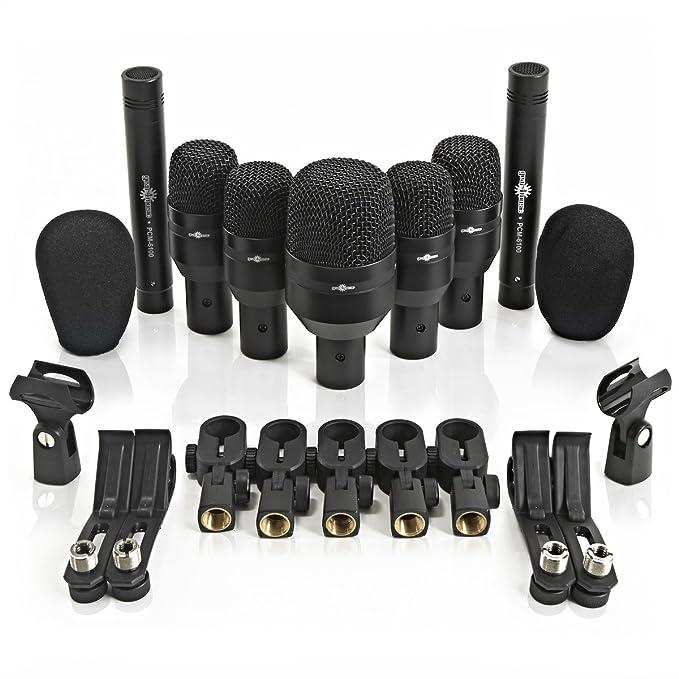 Micrófonos para Baterías (7 Unidades) + Soportes y Cables de Gear4music: Amazon.es: Instrumentos musicales