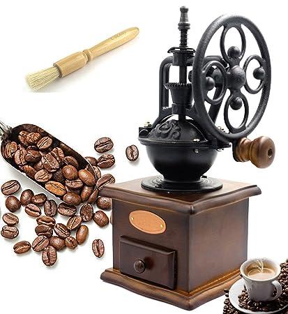 Fecihor Molinillo de Café Manual Vintage Mano Molinillo de Café Madera Estilo Máquina de Café para