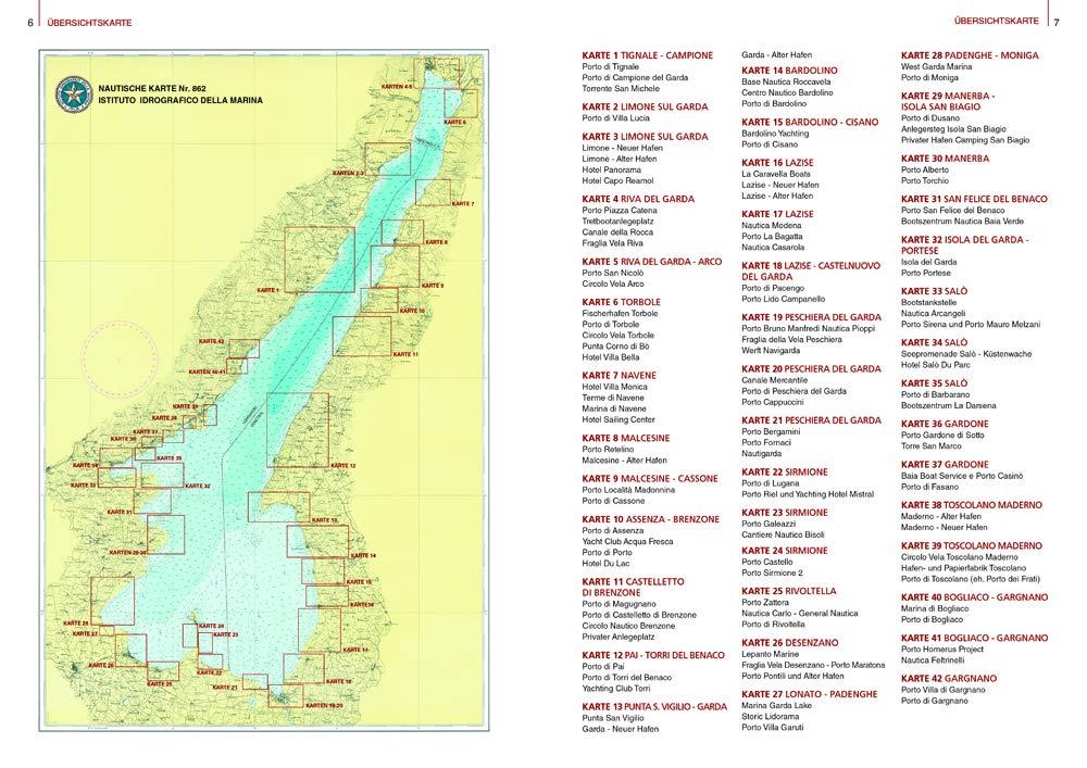 Karte Gardasee Lazise.Kartografischer Hafenführer Gardasee Amazon De Maria Giuseppina