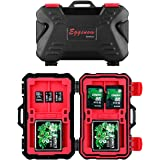Eggsnow 24 Slots Memory Card Case,Sd Card Holders,Resistant&Shockproof Storage Case for SD card/CF cards/MicroSD cards(Red)
