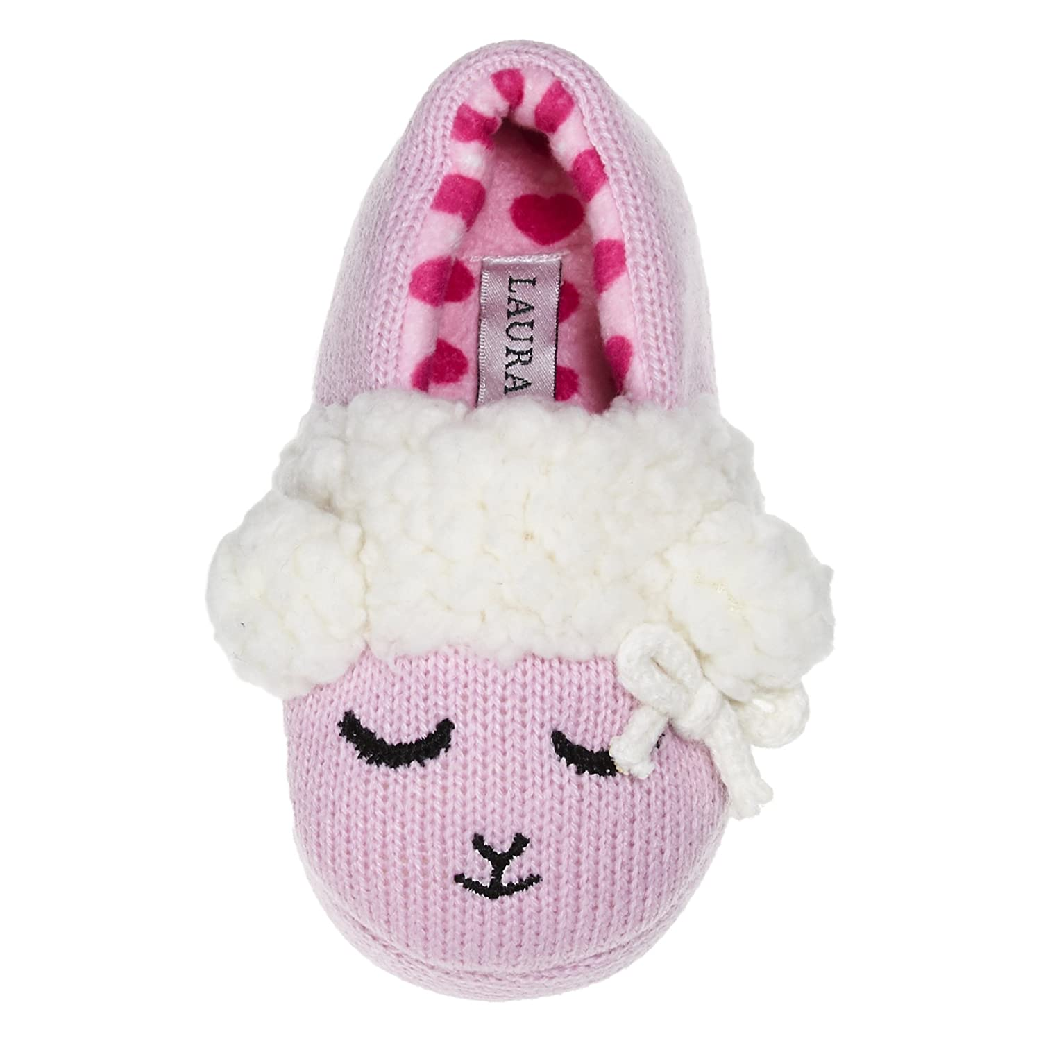 Laura Ashley Toddler Girls Knit Lamb Sherpa A-Line Slip-ONS (See Colors, Sizes)