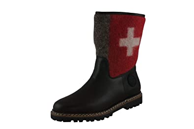 AMMANN DAMEN WINTER Stiefel Crans braun Swiss Kalbleder