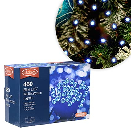 Chaser Christmas Lights.Christow Blue Led Chaser Christmas String Fairy Lights Indoor Outdoor Lighting