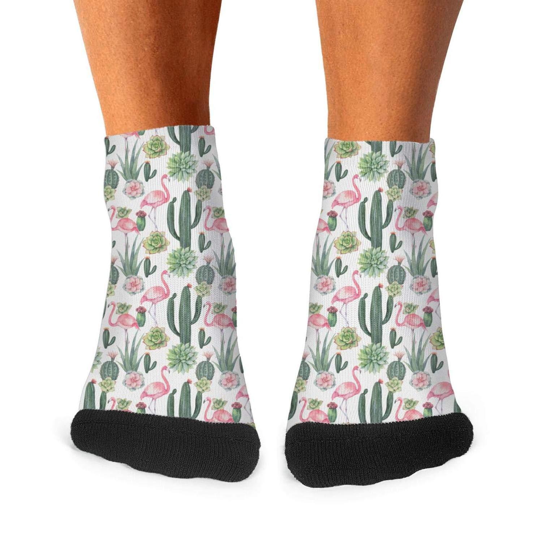 Various Green Beauty Cactus mens socks Daily Use no fading compression socks cute short socks Unisex