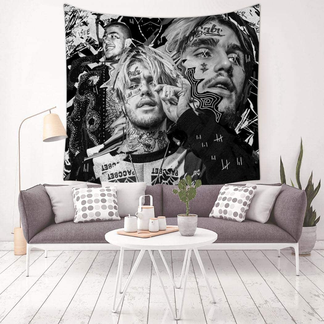 TTT777 3D Print Lil peep Tapestry, Wall Hanging Bedding Decor Tapestries  Living Room Dorm Bedroom Home Decorations