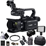 Canon XA11 Compact Full HD Camcorder 2218C002 with 64GB Memory Card, Extra Battery and Charger, UV Filter, LED Light…