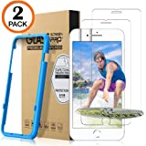 Matone iPhone 8 Plus/7 Plus/6s Plus/6 Plus Screen Protector, [2 Pack] Tempered Glass Screen Protector with Installation Frame [Case Friendly] for Apple iPhone 8 Plus, 7 Plus, 6s Plus & 6 Plus