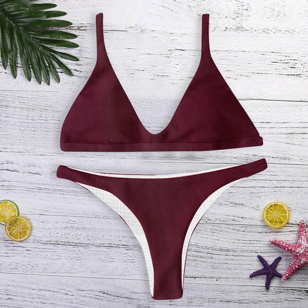 Bikini Donna Mare Push Up,Costume da Bagno Donna Intero,YanHoo Donne a Fascia Bendare Bikini Impostato Flessione sulle Braccia Brasiliano Costumi da Bagno Beachwear Costume da Bagno