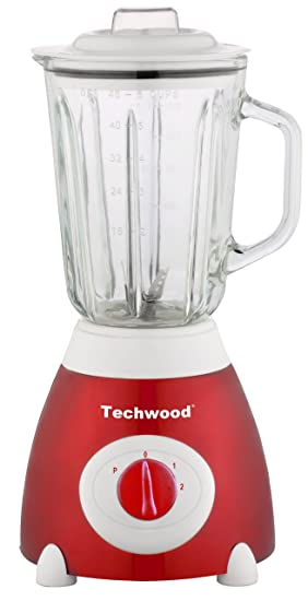 Techwood TBLI-365 - Batidora de vaso (1,5 l, acero inoxidable), color rojo: Amazon.es: Hogar