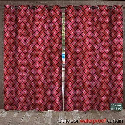 Amazon Com Blountdecor Porch Curtains Abstract Mosaic