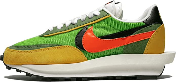 Nike LD Waffle/SACAI Gusto/Safety Anaranjado Suede para Hombre, Verde (Green Gusto/Safety Orange), 37 EU: Amazon.es: Zapatos y complementos