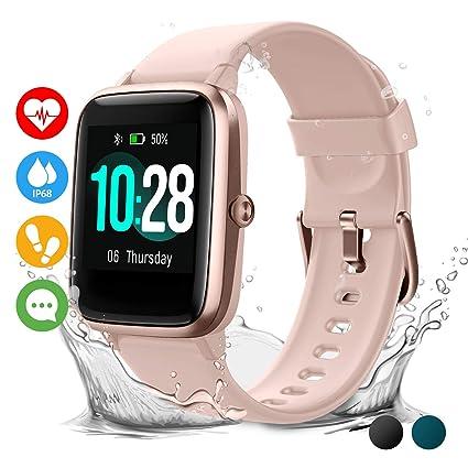 Vigorun Smartwatch Reloj Inteligente Hombre Mujer Niños Impermeable IP68 10 Días Autonomía Pulsera Actividad con Pulsómetro Podómetro Control de ...