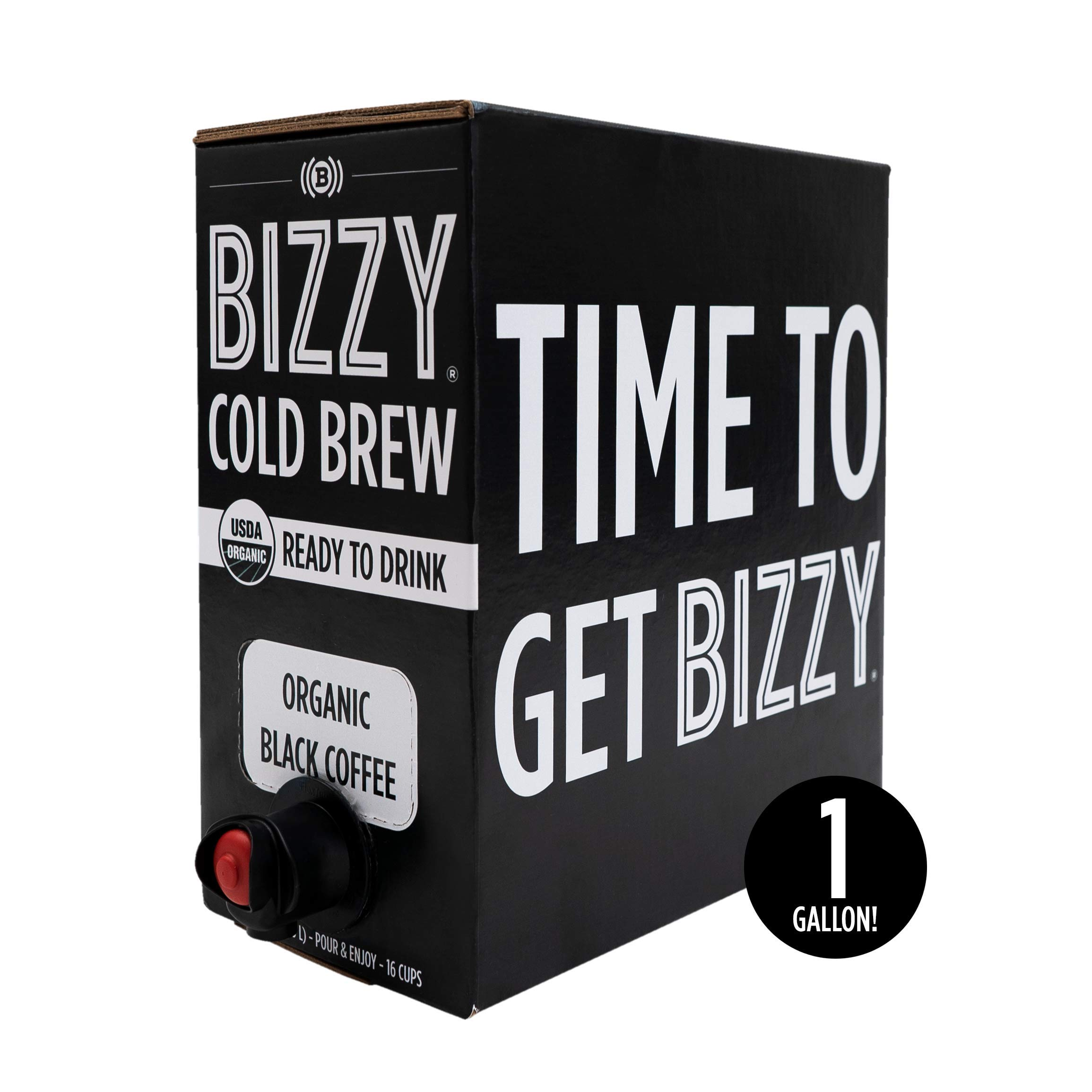 Bizzy Organic Cold Brew Coffee - Ready-to-Drink - 128 fl oz Bag-in-box - Coffee on Tap