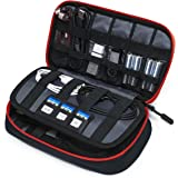 BAGSMART Electronic Accessories Bag, 3 Layer Portable Electronic Organizer Travel for Cables, Extra Batteries, Adapters…