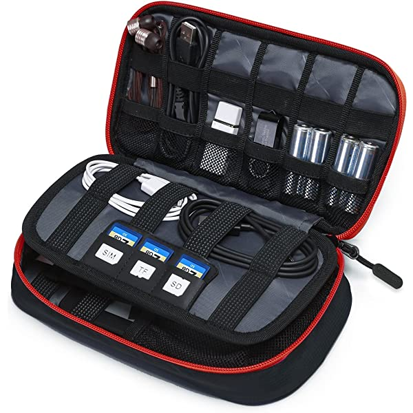LJSLYJ Portable Travel Digital Mobile Hard Drive Organizer Bag Power Bank Storage Carrying Case Pouch Accessories
