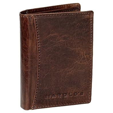 Cartera monedero cartera de piel para hombre Harold vertical marrón 5468