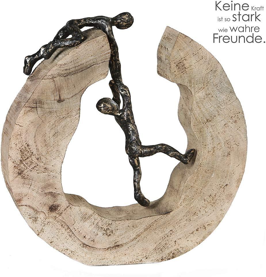 Skulptur Teamwork Casablanca Mangoholz//Alu H.30cm