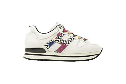 HOGAN Scarpe Donna H222 HXW2220T549IAP0P69 Sneakers Pelle Bianco H Fantasy