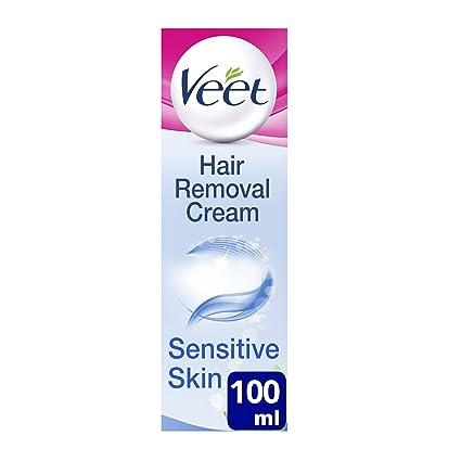 Veet - Crema depilatoria para pieles sensibles (con aloe vera y vitamina E, 100