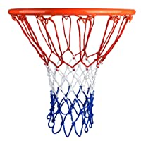 Netz f/ür Basketballkorb Basketball Korb Netz f/ür Innen oder Au/ßen 52 cm 12 Schleife HTINAC 2 St/ück Basketball-Netz wei/ß, Rot und Blau