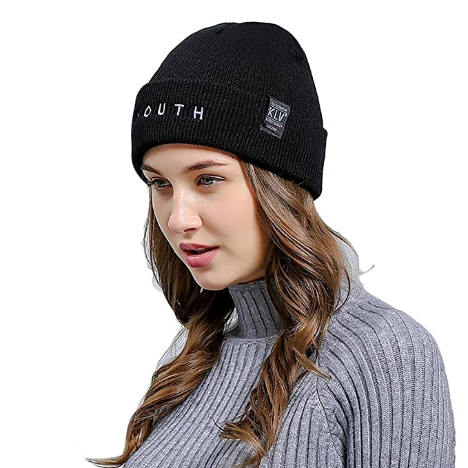 10cc6a325e8 etuoji Beanie Hat for Men and Women Winter Warm Hats Knit Slouchy Thick  Skull Cap(New Store for sale) (Black) at Amazon Women s Clothing store