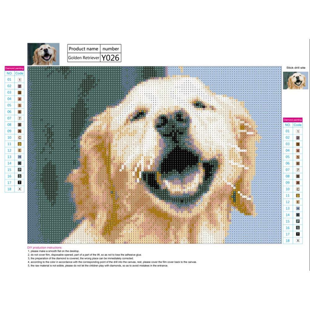 Kingko/® DIY 5D Diamond Painting Set Rhinestone Sticker Home Wall Decoration Gift Cute Puppy//Kitten Decorative Cross Stitch Embroidery Set A 40X30CM