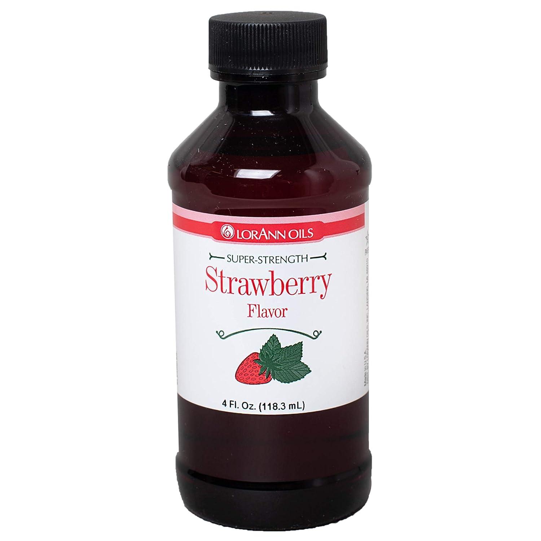 LorAnn Strawberry Super Strength Flavor, 4 ounce bottle