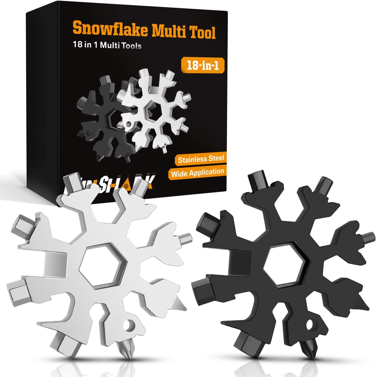 LIZHIGE Snowflake Multi Tool 18-in-1 Cacciavite Portatile,Scheda Multifunzione,
