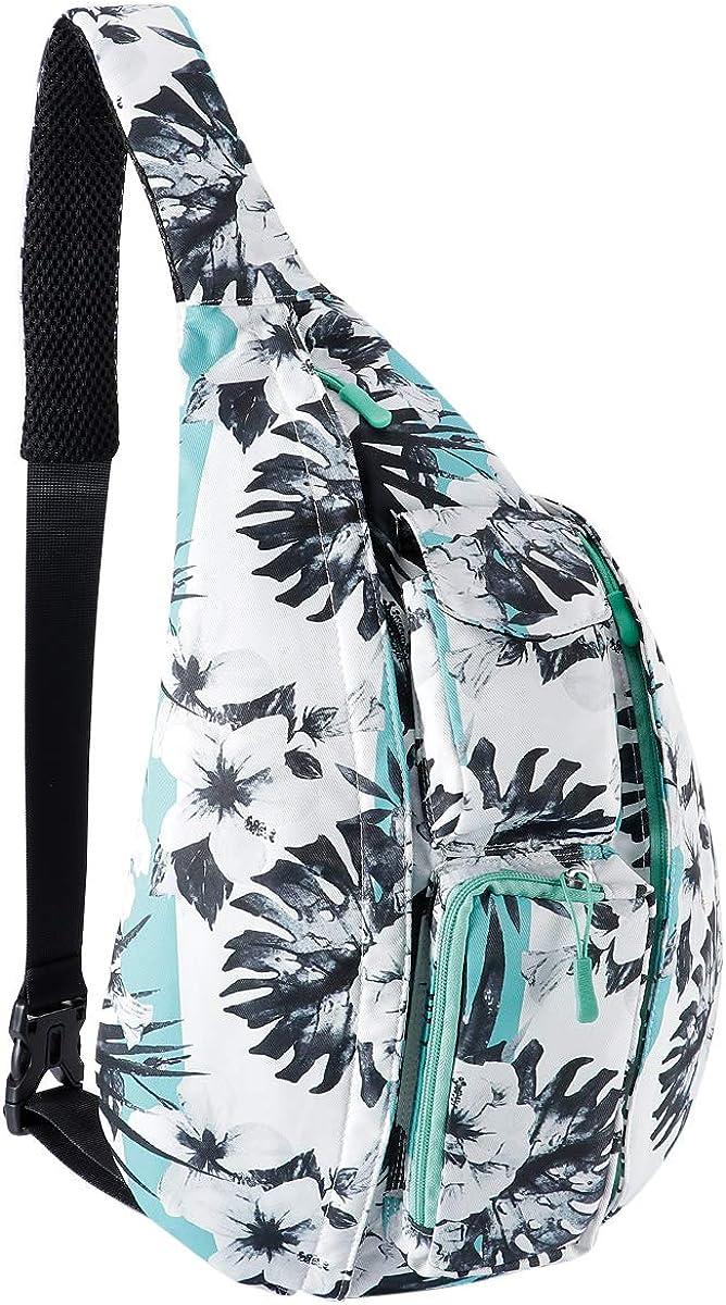 Unisex Sling Bag Crossbody Sling Backpack Mutilpurpose Shoulder Daypack