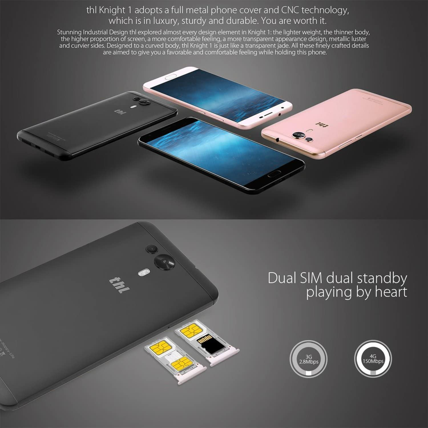 THL-knight1 4G LTE - Smartphone Libre Android 7.0 (5.5