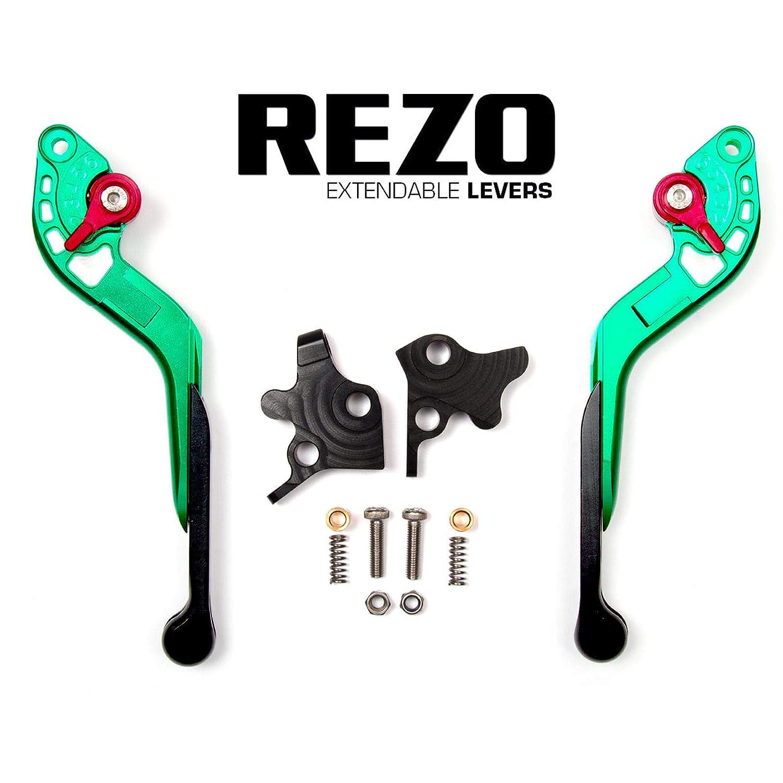 REZO V2 Extensible Verde Ajustable CNC Motocicleta Palancas ...