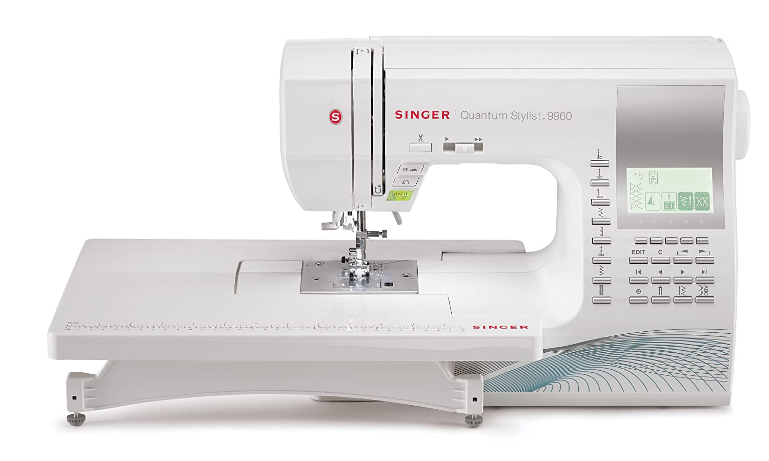 Singer 9960 quantum stylist 600 stitch computerized sewing machine with extension table bonus accessories and hard cover amazon ca home kitchen