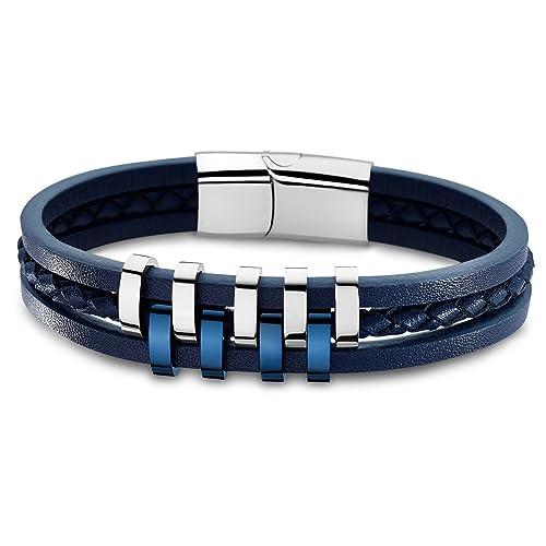 f4eca34b5a06 Lotus Style Pulsera de plata para hombre de acero inoxidable azul Urban de  colección jls1838 - 2 de 2  Lotus Style  Amazon.es  Joyería