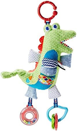 Fisher-Price Cocodrilo activity, juguete colgante para bebé recién nacido (Mattel FDC57)