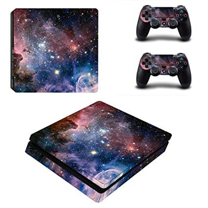 FOTTCZ Whole Body Vinyl Skin Sticker Decal Cover for Microsoft Xbox One Slim Console Cosmic Nebular