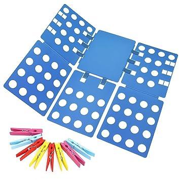 Ohuhu® Carpeta Ropa - Vestido Adulto Pantalones Toallas Camiseta Carpeta Carpeta / Camisa / Carpeta de Lavandería Junta Organizador, Azul: Amazon.es: Hogar