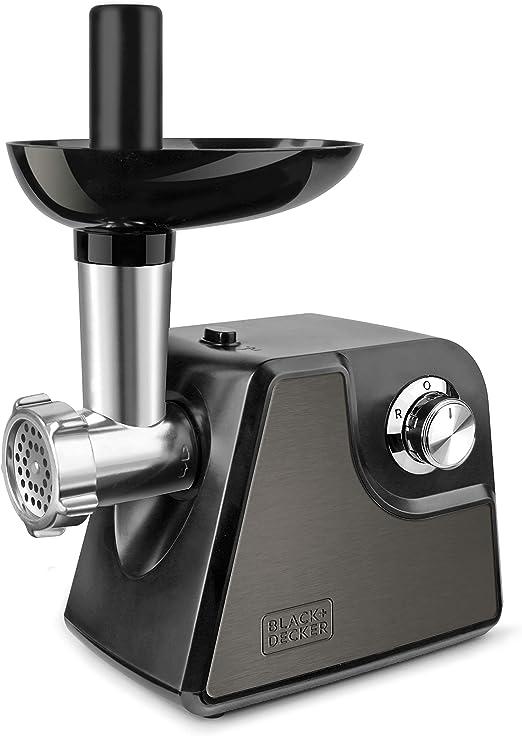 Black+Decker BXMM1000E Picadora de Carne, 1000 W, Acero Inoxidable, Gris: Amazon.es: Hogar