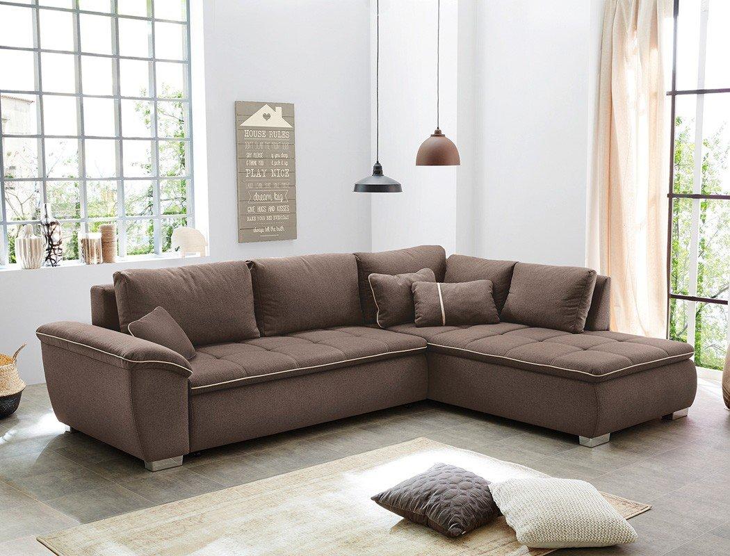 wohnlandschaft corvin 280x210 cm braun funktionssofa eckcouch polsterecke bettkasten couch sofa wohnzimmer - Wohnzimmer Couch Gunstig