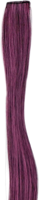 WIG ME UP- Extensión de pelo con 1 clip mechón liso mezcla de rosa y negro 45 cm / 18 inch YZF-P1S18-1BTT2124