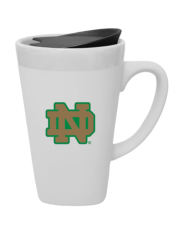 Design 1 The Fanatic Group Notre Dame University Porcelain Mug with Swivel Lid