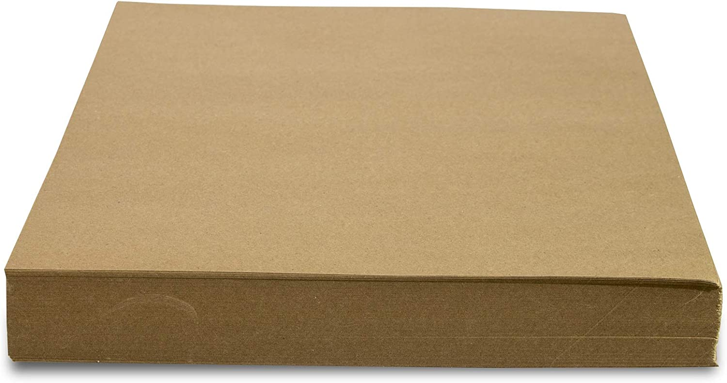 Crown Display 480 Count Kraft Paper Sheets ~ 80 GSM Brown Kraft Wrapping Paper Ream ~ Bulk Packaging for Shipping, Packing, Postal, Arts and Crafts (15 in. x 15 in. (750 Square ft))