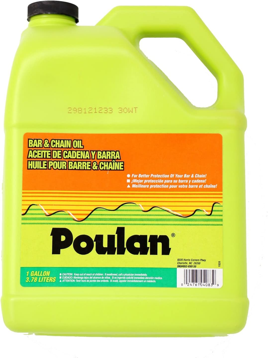 Amazon.com: Poulan 952030130 Bar y aceite para cadena, 1 ...