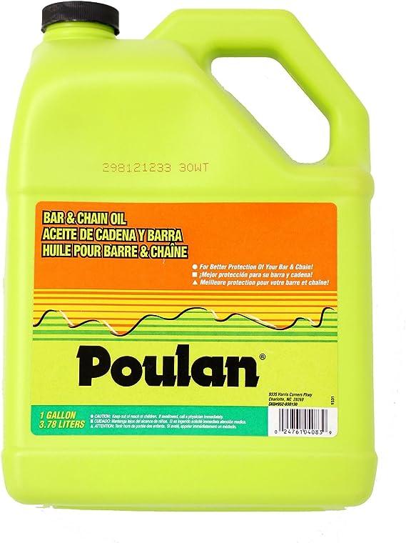 Poulan 952030130 Bar and Chain Oil, 1-Gallon