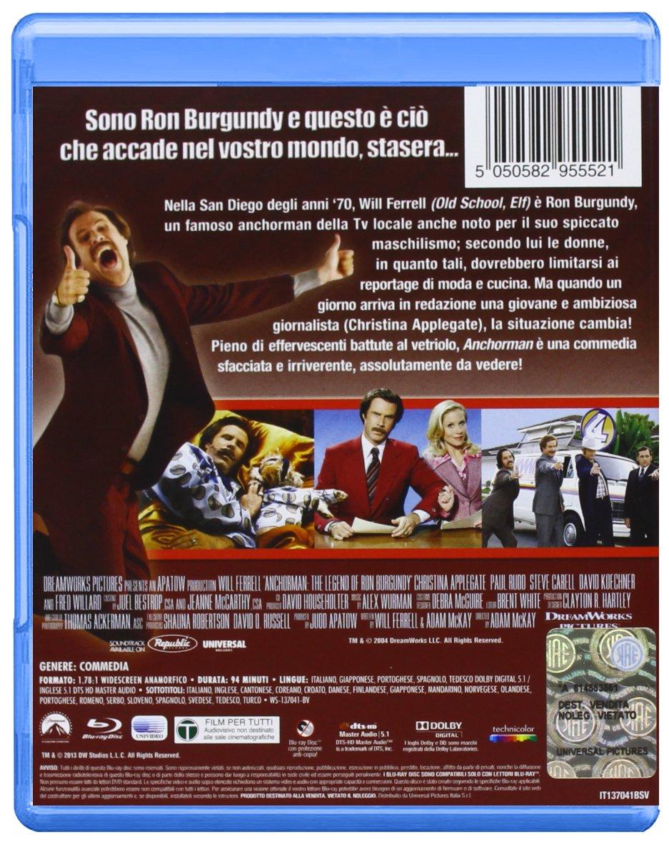 Anchorman - La Leggenda Di Ron Burgundy Blu-Ray Italia Blu ...