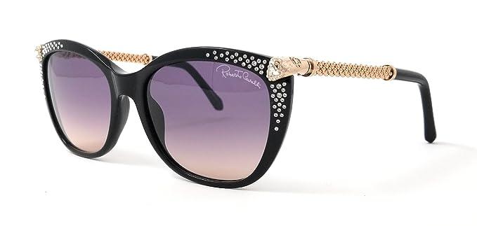 Roberto Cavalli RC979S Tania Sunglasses 57 01B Shiny Black Gradient Smoke