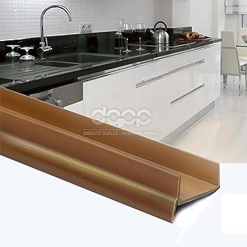 1,5m PVC Bavette De Plinthe 18mm Braun Cuisine Planche MDF ...
