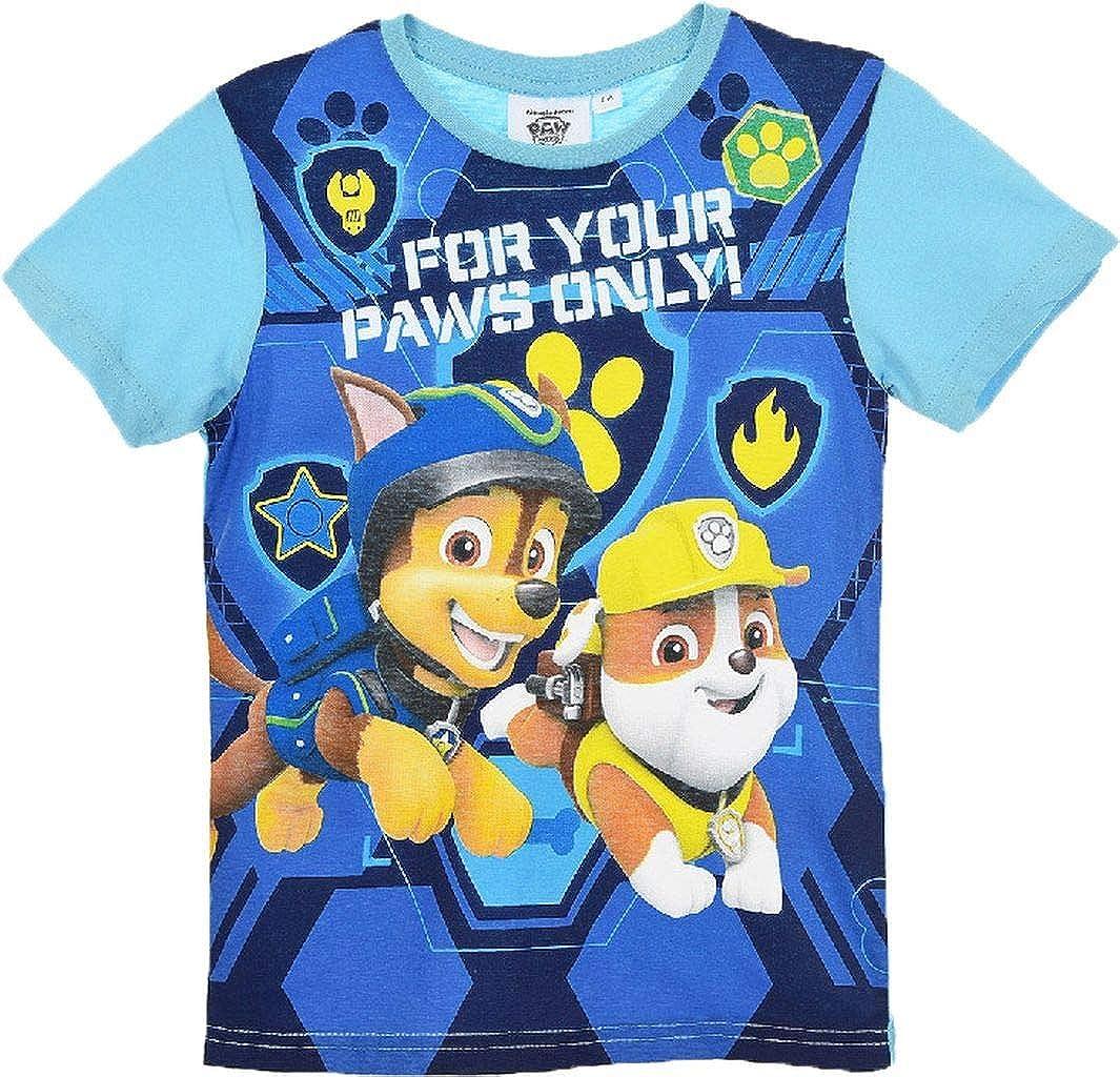 Maglietta Paw Patrol t-Shirt in Cotone Stampata Bambino da 3 a 6 Anni 1836